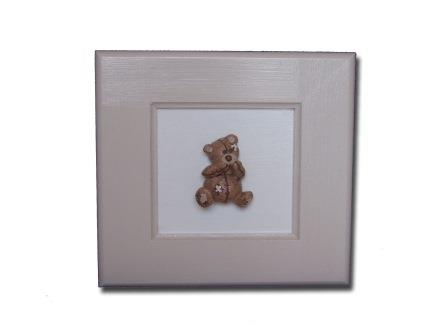 Scruffy Bear Brown 3D Pic(S) Pink Accents