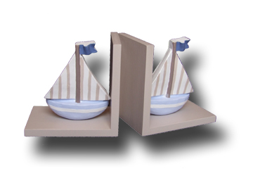 Terrific Transport Bookends yacht